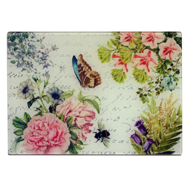 Ericksen Butterfly Floral Cheese Board by August Grove