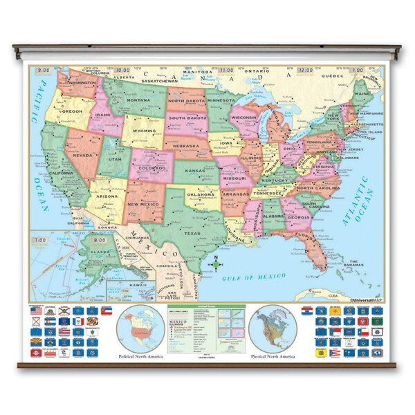 Essential Wall Map - United States by Universal Map