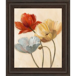 'Poppy Palette II' Framed Painting Print by Andover Mills