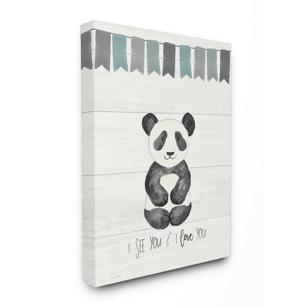 Fehr I See You Panda Canvas Art by Harriet Bee