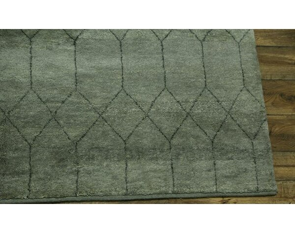 One-of-a-Kind Salma Oriental Hand-Knotted Wool Gray Area Rug by Red Barrel Studio