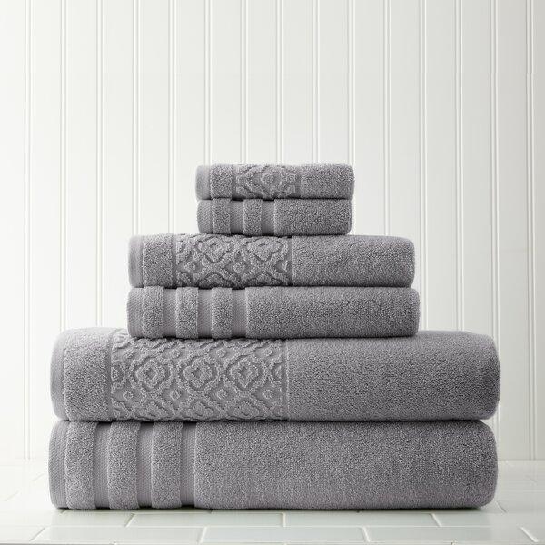 6 Piece Cotton Towel Set by Mercury Row