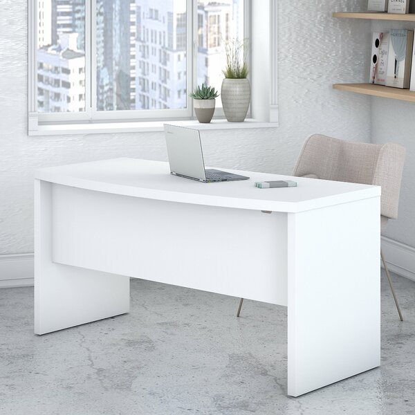 Echo Bow Front 2 Piece Desk Office Suite by Kathy Ireland Office by Bush