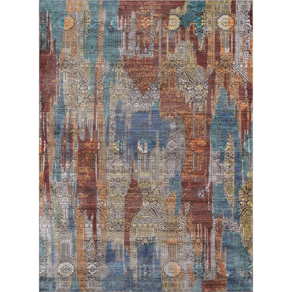 Lawler Brown/Blue Area Rug by World Menagerie