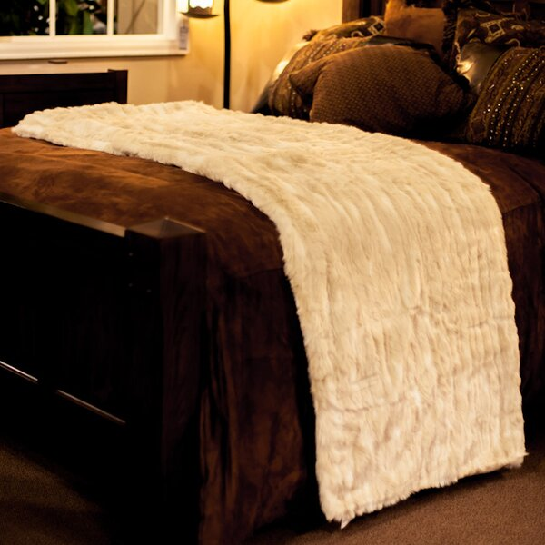 Cougar Throw Blanket with Silky Soft Faux Fur Lining by Posh Pelts