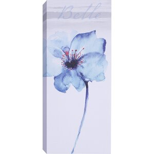 'Blue Tall Flowers I' by Samantha T. Wall Art on Wrapped Canvas by Hobbitholeco.