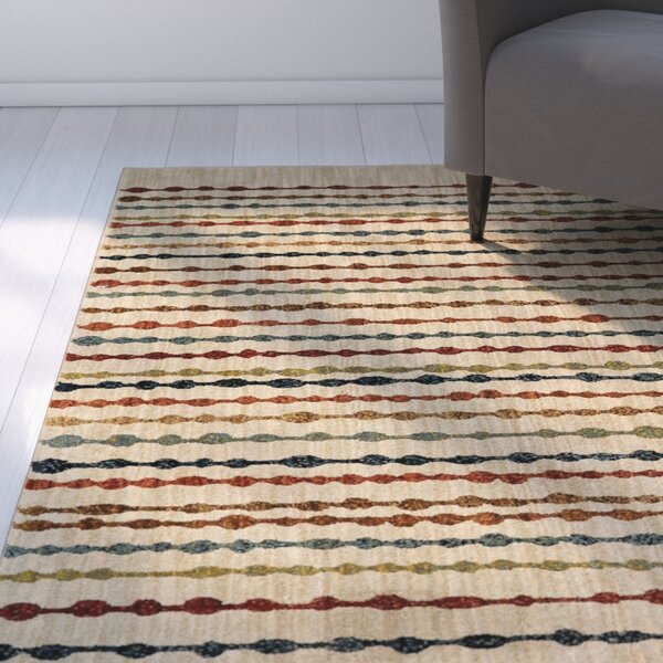Brookline Bubbles Beige Area Rug by Latitude Run