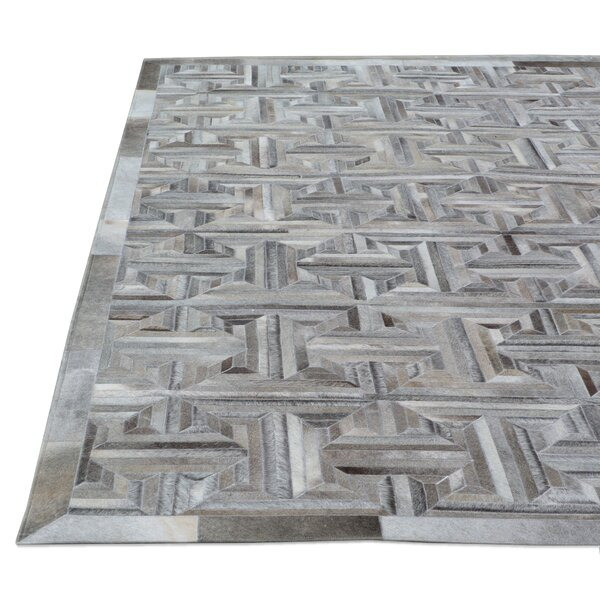 Natural Hide Hand-Tufted Cowhide Gray/Brown Area Rug by Exquisite Rugs
