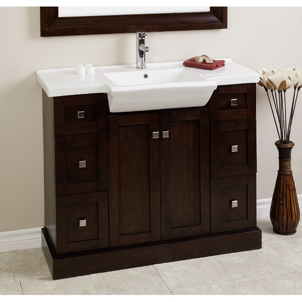 Kimbrell European Floor Mount 48 Single Bathroom Vanity Set by Royal Purple Bath Kitchen