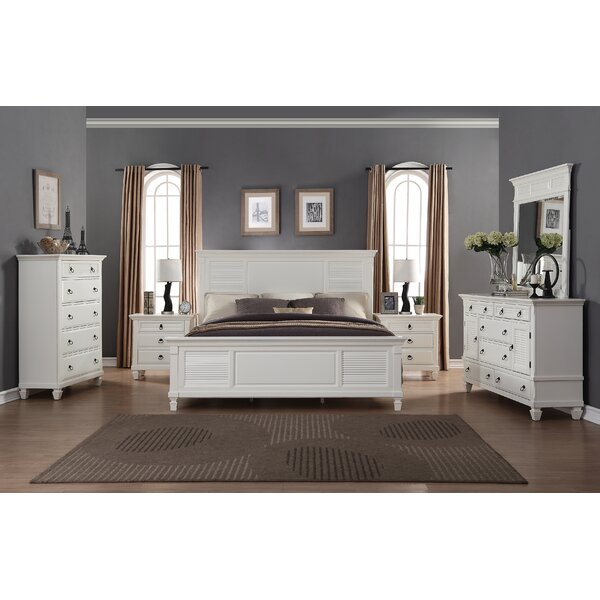 Regitina Queen Platform 6 Piece Bedroom Set by Roundhill Furniture
