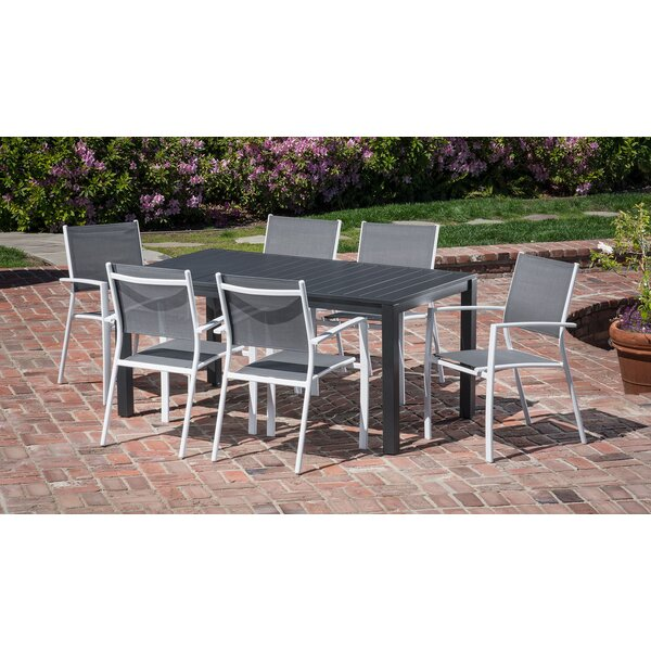 Ciaran 7 Piece Outdoor Patio Dining Set by Latitude Run
