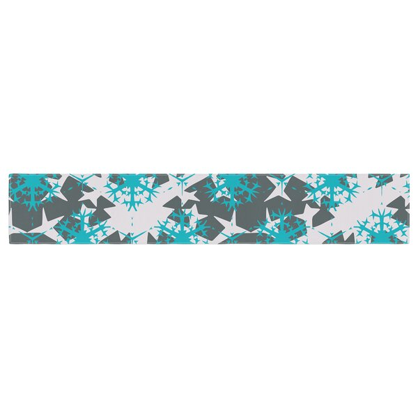 Miranda Mol Tree Snow Flakes Table Runner by East Urban Home