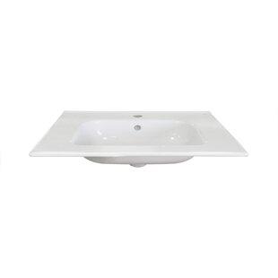 Read Reviews Ceramic 32 Single Bathroom Vanity Top ByDawn USA