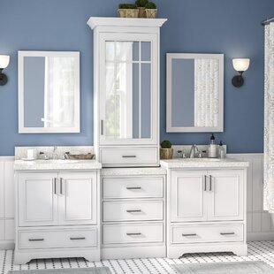 Shop For Geraldina 85 Double Sink Bathroom Vanity with Mirror ByDarby Home Co