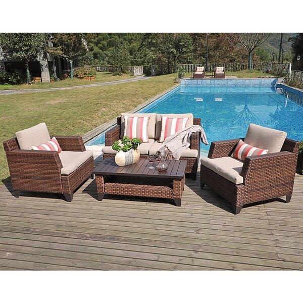 Rani 4 Piece Rattan Sofa Seating Group With Cushions By Latitude Run