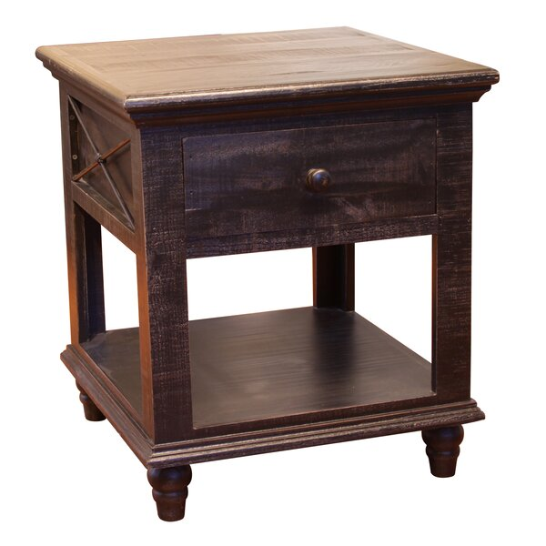 Strausbaugh 1 Drawer End Table by Millwood Pines