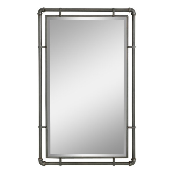 Scottie Industrial Metal Wall Mirror by Williston
