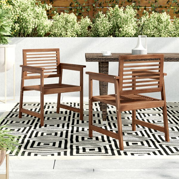 Arianna Patio Dining Chair (Set of 2) by Langley Street Langley Street™