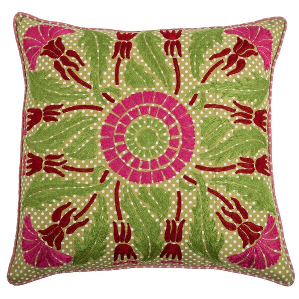 Charly  Cotton Throw Pillow by Wildon Home ®
