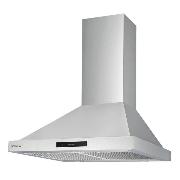 30 Convertible Pyramid 400 CFM Ducted Wall Mount Range Hood by Ancona