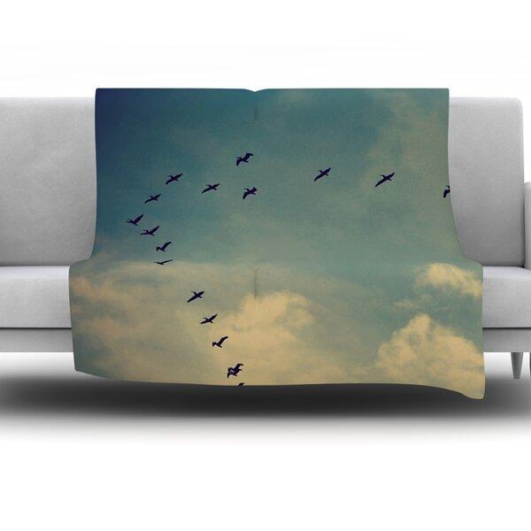 Pterodactyls by Robin Dickinson Fleece Throw Blanket by KESS InHouse