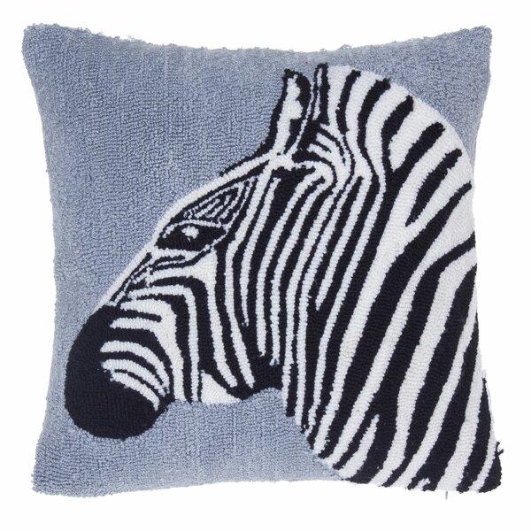 Safari Zebra Throw Pillow by 14 Karat Home Inc.