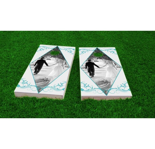 Wedding Triangle Cornhole Game Set by Custom Cornhole Boards