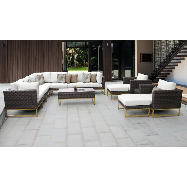 Mcclurg 13 Piece Sectional Seating Group with Cushions by Darby Home Co