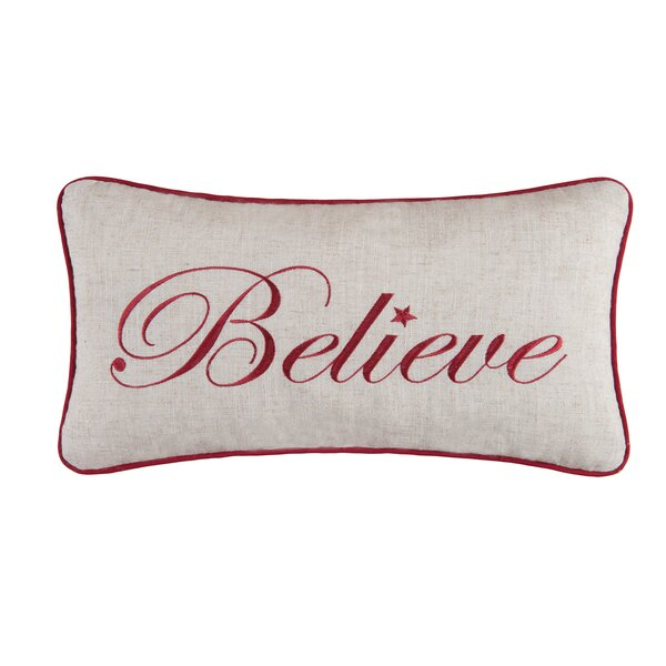 Believe Lumbar Pillow by The Holiday Aisle