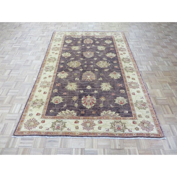 One-of-a-Kind Railsback Oushak Hand-Knotted Wool Eggplant Area Rug by Astoria Grand