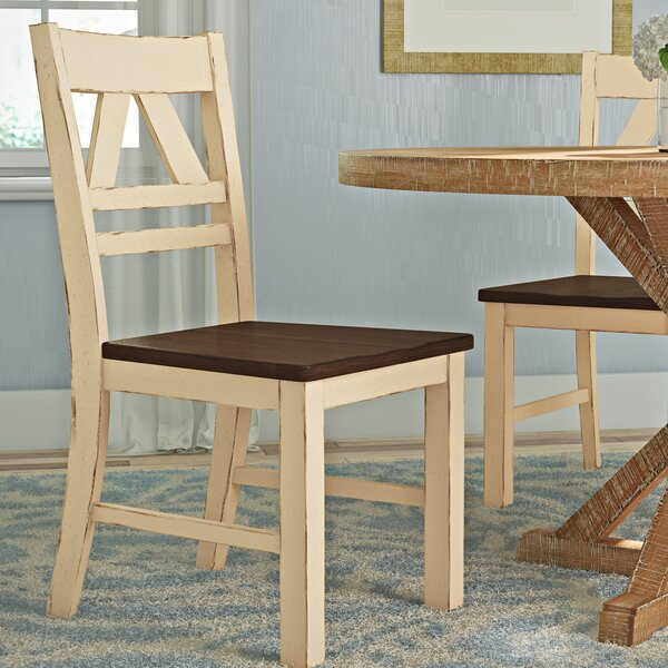 Fred Solid Wood Dining Chair (Set of 2) by August Grove