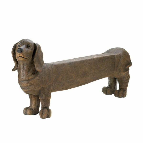 Brockport Long Daschund Dog Plastic Garden Bench by Winston Porter