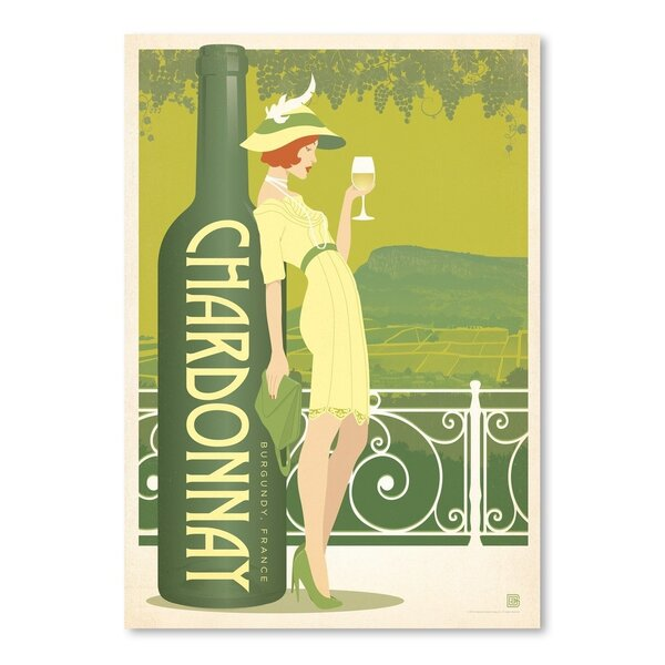 Wine Chardonnay Vintage Advertisement by East Urban Home