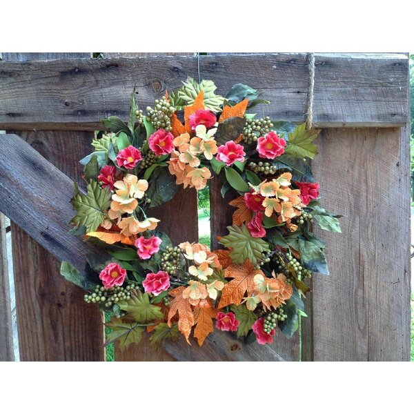 22 Autumn Hydrangea Mix Wreath by Flora Decor