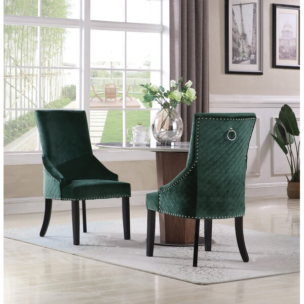 Broseley Diamond Button Tufted Upholstered Dining Chair (Set of 2) by Everly Quinn