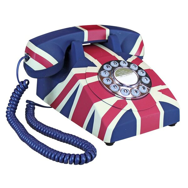 British Flag Union Jack Rotary Telephone by Design Toscano