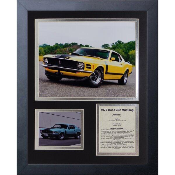 1970 Ford Mustang Boss 302 Framed Memorabilia by Legends Never Die
