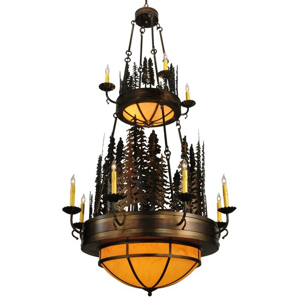 Grillo 17 - Light Candle Style Tiered Chandelier By Loon Peak
