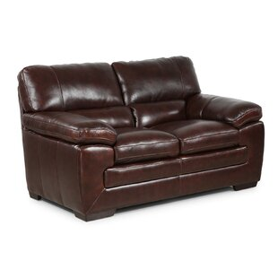 Read Reviews Antora Leather Loveseat By Red Barrel Studio