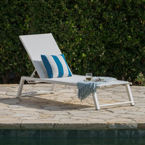 Moshier Mesh Reclining Chaise Lounge by Ebern Designs