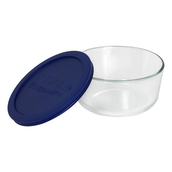 Storage 4-Cup Round Dish with Cover by Pyrex