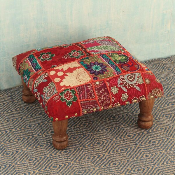 San Michele Paisley Patch Ottoman by Bloomsbury Market