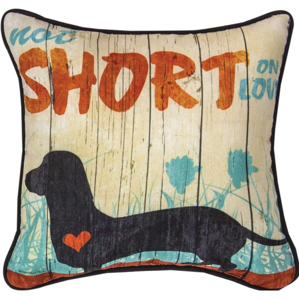 Not Short on Love - Dye Throw Pillow by Manual Woodworkers & Weavers