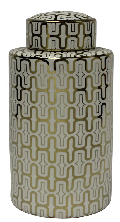 Gold patterned Decorative Jar