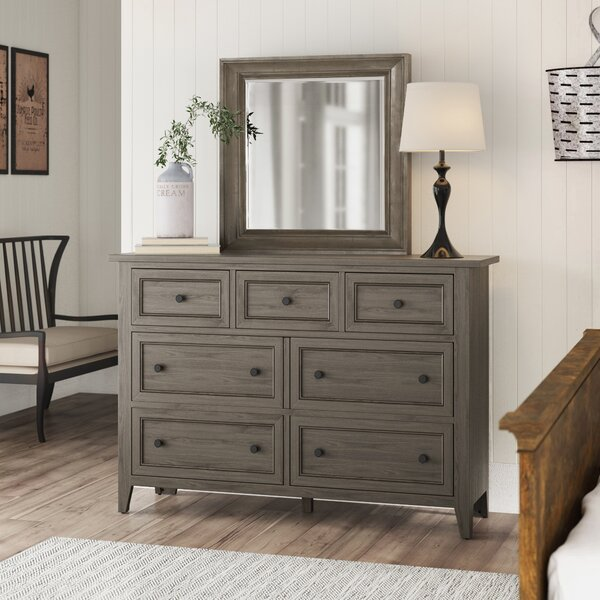 Stoughton 7 Drawer Dresser with Mirror by Rosecliff Heights