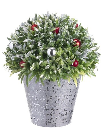 Rosemary and Berry Ball in Pot by The Holiday Aisle