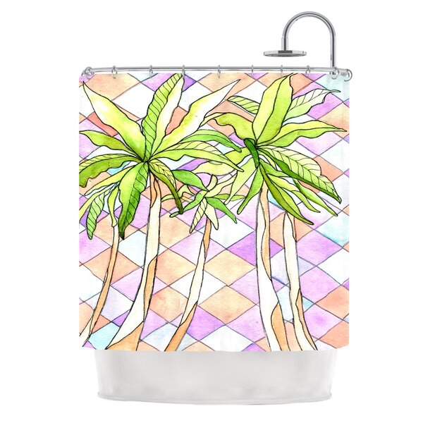 Geometric Tropic by Rosie Brown Shower Curtain by East Urban Home