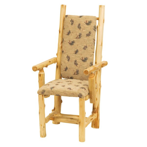 Traditional Cedar Log Arm Chair by Fireside Lodge