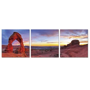 Declicate Arch 3 Piece Photographic Print Wrapped Canvas Set by Furinno