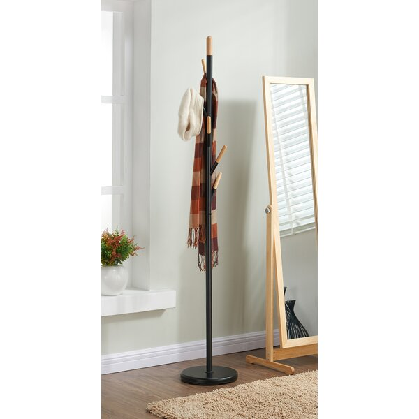 Metal with Solid Wood Hook Coat Rack by !nspire